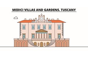 Medici Villas And Gardens. Tuscany