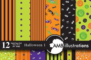 Halloween digital papers 401