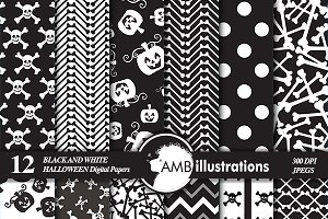 Halloween Papers B&W AMB-149