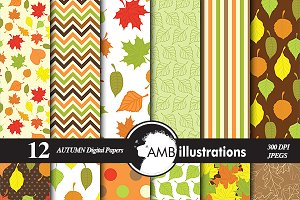 Autumn Leaves papers AMB-144