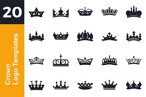 20 Logo Crown Templates Bundle