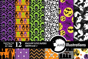 Hallows Eve Digital Papers AMB-150