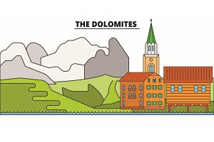 The Dolomites  line travel landmar