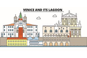 Venice And Its Lagoon  line trave