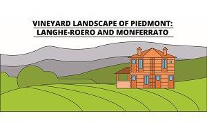 Vineyard Landscape Of Piedmont -