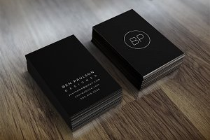 Modern Black Business Card 022