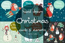 Christmas cards and elements