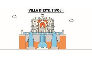 Villa D este, Tivoli line travel