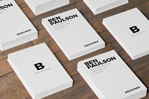 Clean White Business Card Design 023
