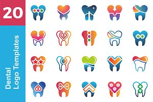 20 Logo Dental Template Bundle