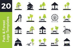 20 Logo Park & Forest Bundle
