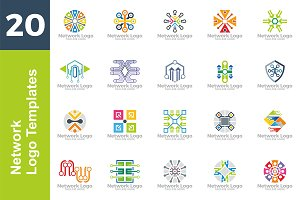 20 Logo Network Template Bundle