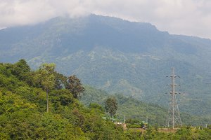 Large transmission towers