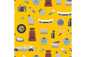 Vector car parts pattern or