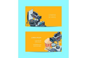 Vector cinematograph business card