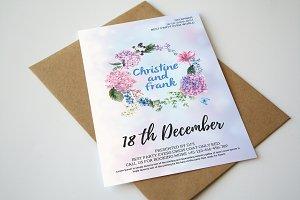 Flower Wedding Invitation & Card