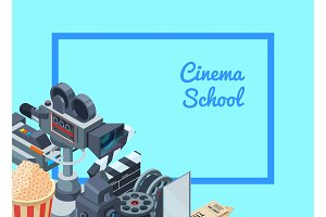 Vector cinematograph isometric