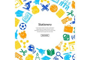 Vector back to school stationery