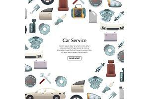 Vector car parts background