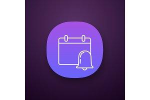 Event notification app icon