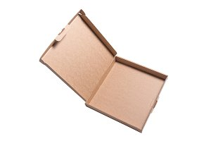 Brown cardboard box, isolated