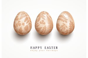 Eggs with floral pattern