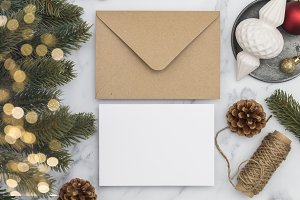 Christmas card invite template