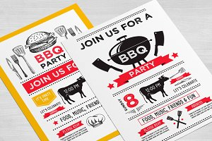 Barbecue invitation template