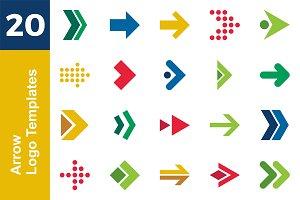 20 Logo Arrow Template Bundle