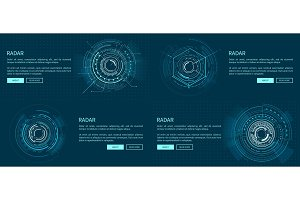 Set of Exact Radar Templates Vector