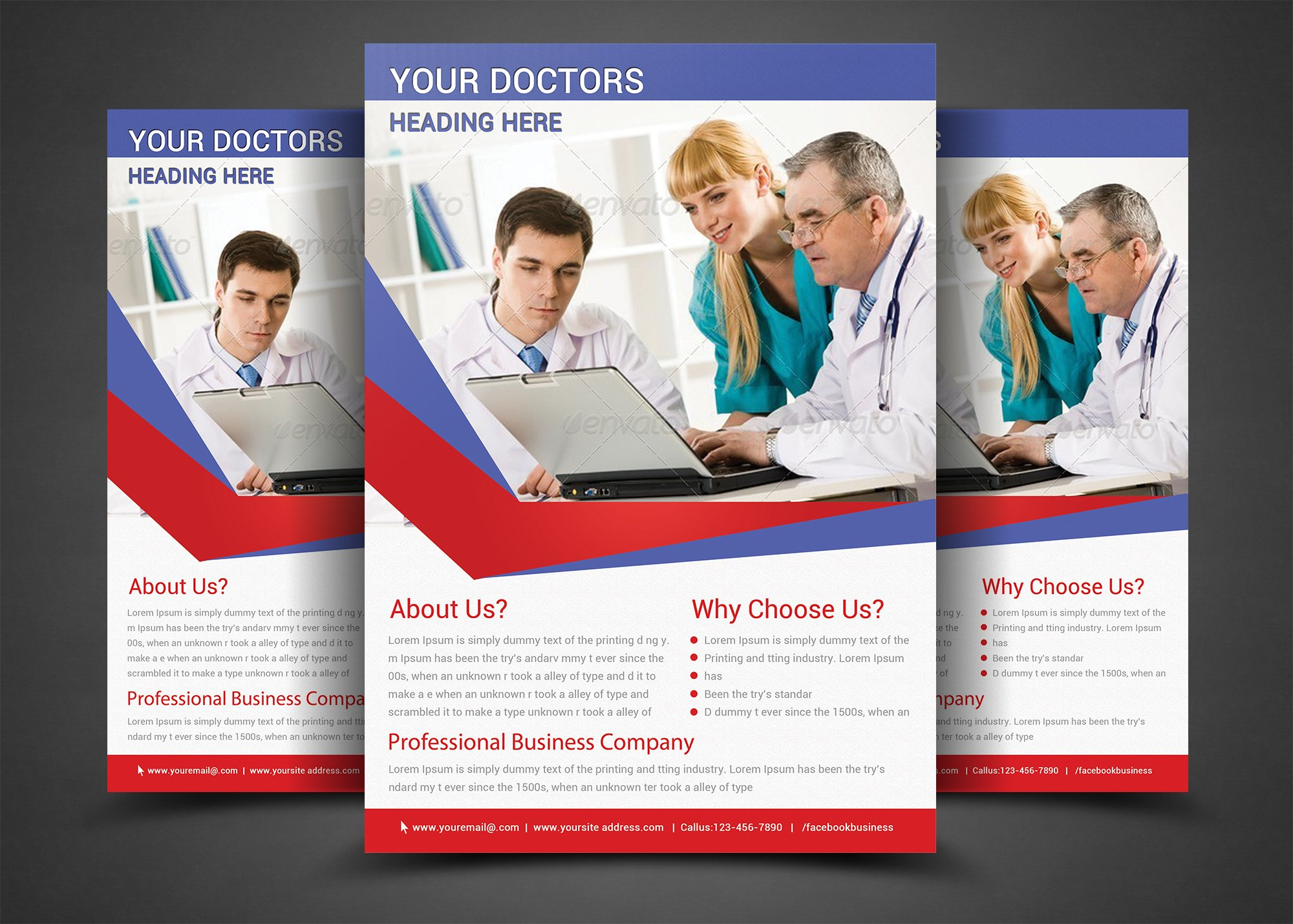 health medical doctors flyer templ flyer templates on creative health medical doctors flyer templ flyer templates on creative market