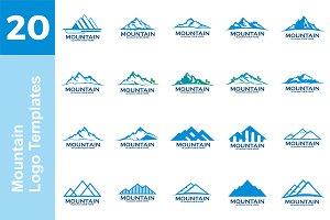 20 Logo Mountain Templates Bundle