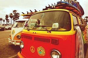 Hippie Volkswagen Bus