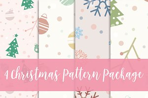 4 Christmas pattern package