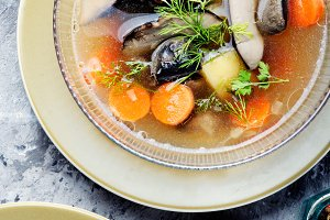 Freshly mushroom soup