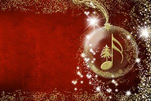 Christmas musical invite card.