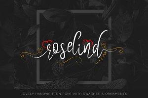 Roselind Font + Swashes & Ornaments