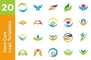20 Logo Hand Care Template Bundle