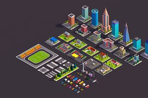 Polygonia City Low Poly Asset Pack
