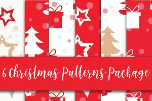 6 Christmas pattern package