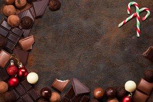 Christmas Chocolate Background