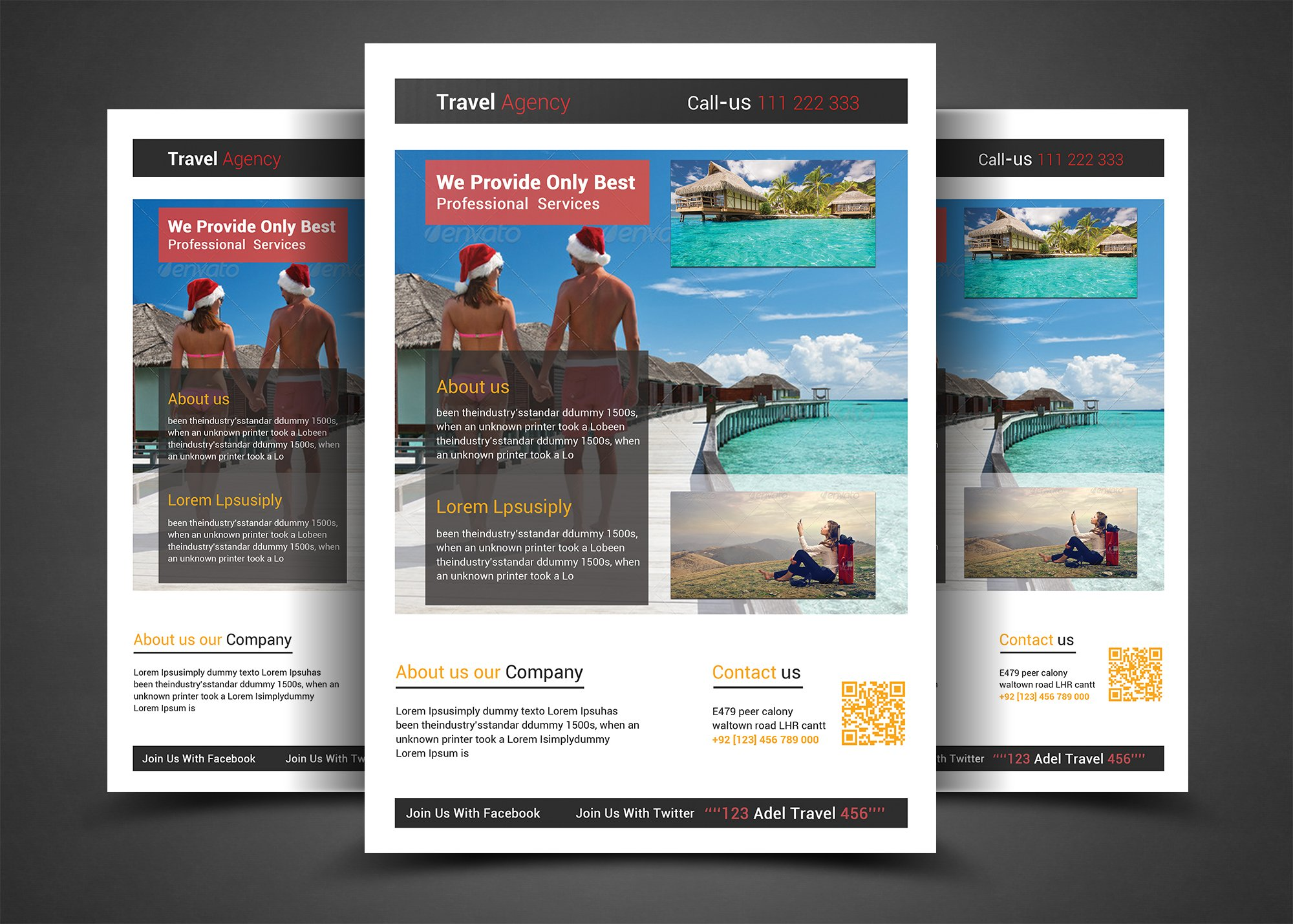 Holiday Traveltour Flyer Template Flyer Templates Creative Market