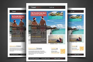 Holiday Travel/Tour Flyer Template