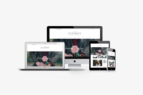 870c56ee2a92 Oleander - A Blog   Shop Theme ~ WordPress Blog Themes ~ Creative Market