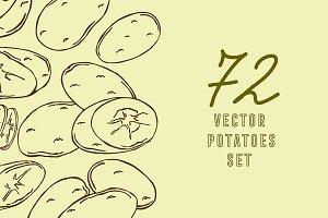 Potatoes, vector