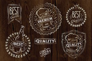 Vintage design element beer quality