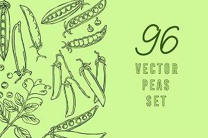 Peas, vector