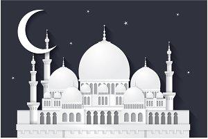 raya mosque vector