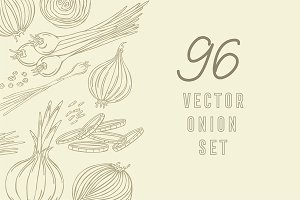 Onions, vector