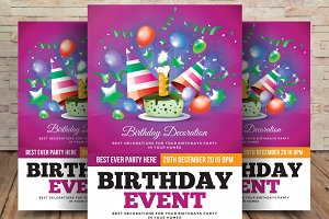 Birthday/Event Party Flyer Template